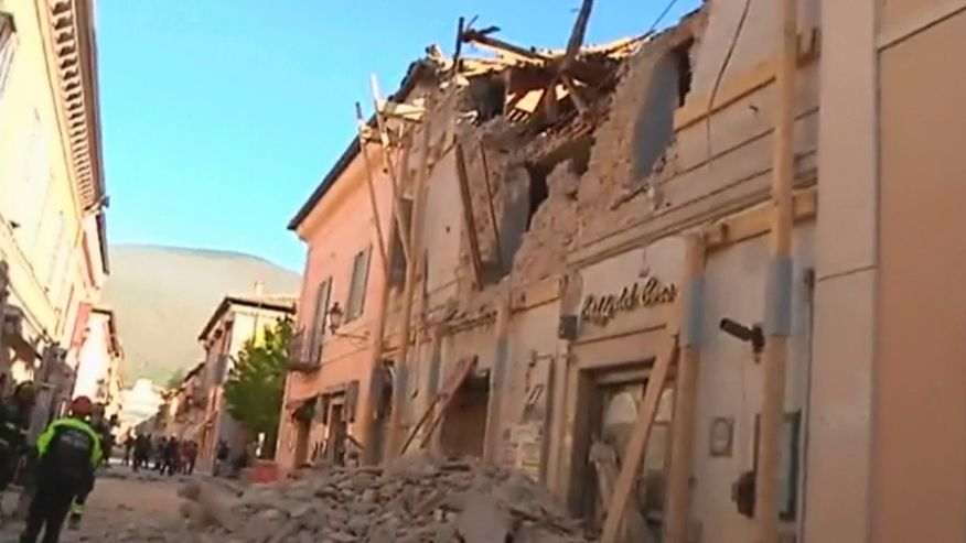 Italy rocked by strongest earthquake to strike the country in 36 years