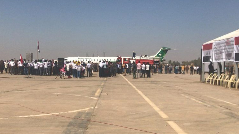 Kirkuk opens airport, first commercial plane lands Sunday