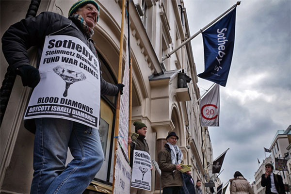 $83 million diamond default: Sotheby's and Israeli war crimes