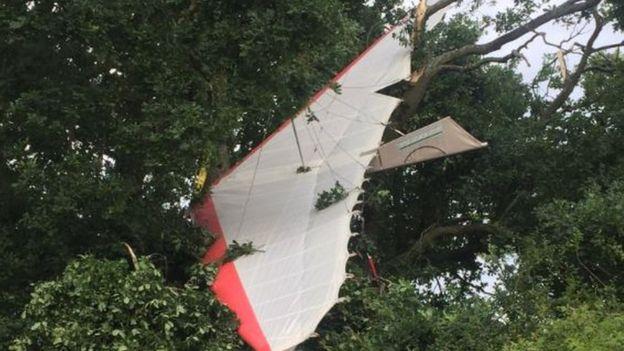Pilot, 91, injured in a microlight crash in UK