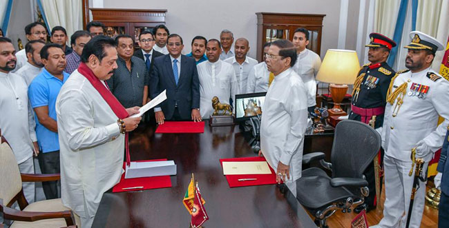 Mahinda Rajapaksa to be sworn in as new PM of Sri Lanka