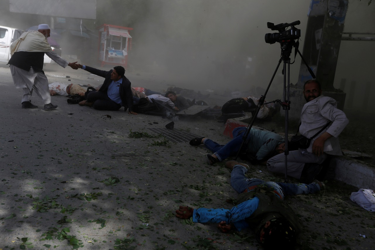 At least 12 people killed in Afghan election rally blast