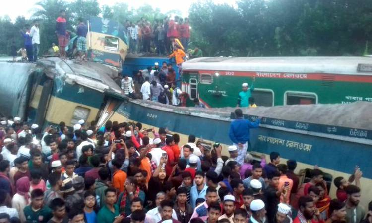 12 passengers killed in train collision in Bangladesh