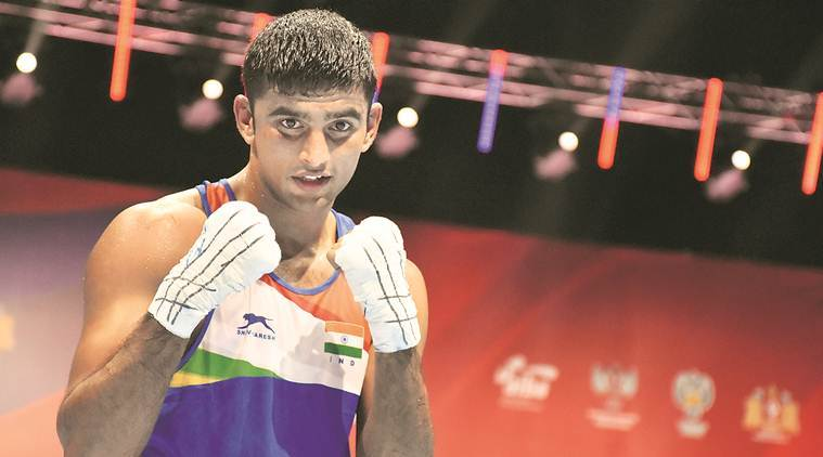 Amit Panghal became the first Indian to enter the finals of the World Men's Boxing Championship