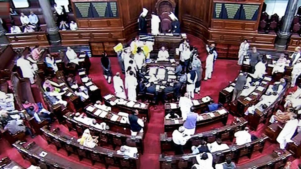Rajya Sabha adjourned till noon