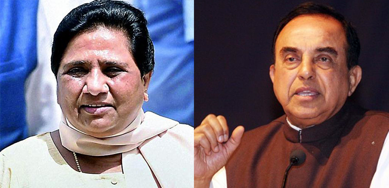 Subramanian Swamy backs Mayawati's decision to go solo in assembly elections