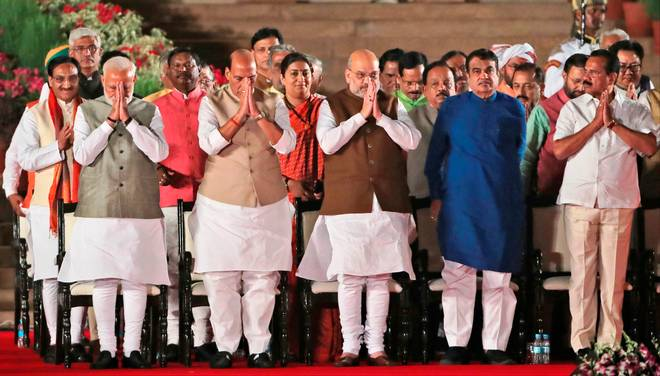 Newly appointed Union Ministers take charge of their ministries
