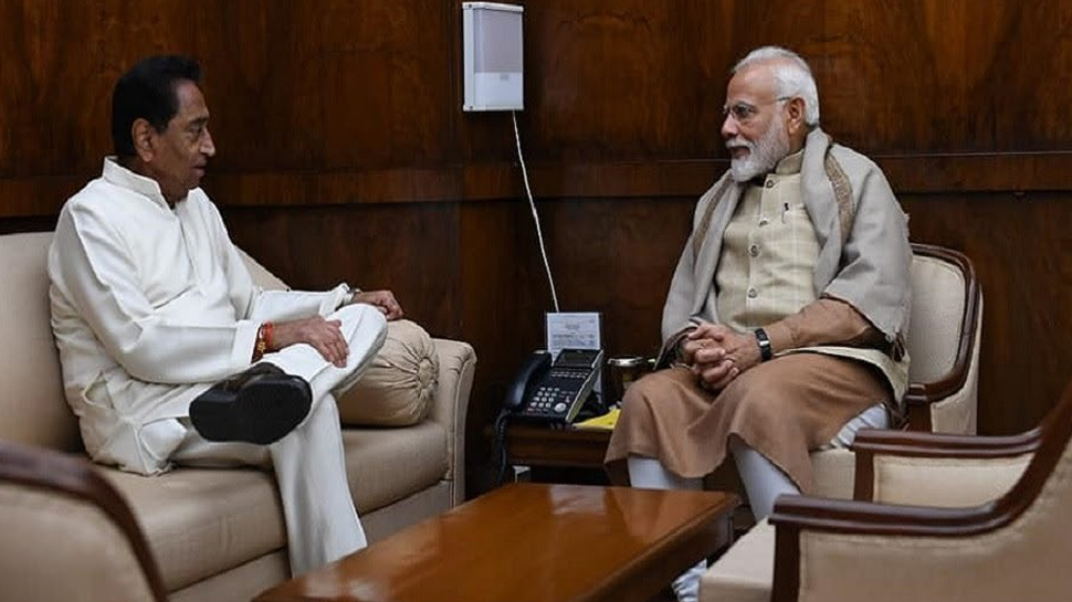 Kamal Nath meets PM Modi, hands over memorandum on floods