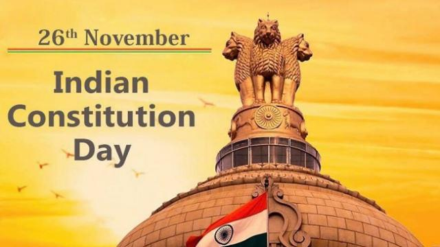 Vice President M Venkaiah Naidu greets people on Constitution Day