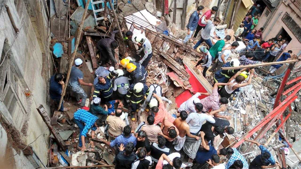 Mumbai building collapses in Dongri area, many feared trapped
