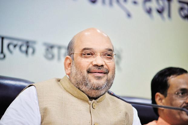 Amit Shah re-elected BJP chief