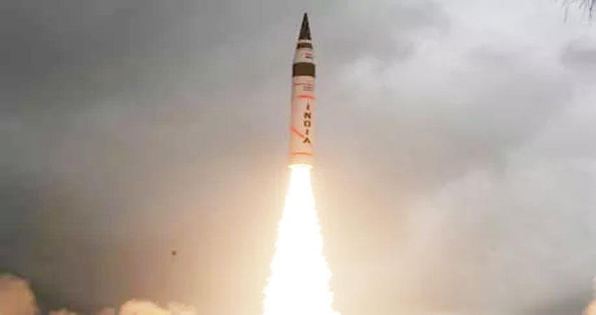 first-night-trial-of-surface-to-surface-medium-range-missile-agni-ii-conducted-successfully