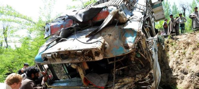 15 killed after bus overturns in MP