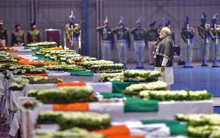 PM Modi leads nation in paying tributes to martyrs of Pulwama attack