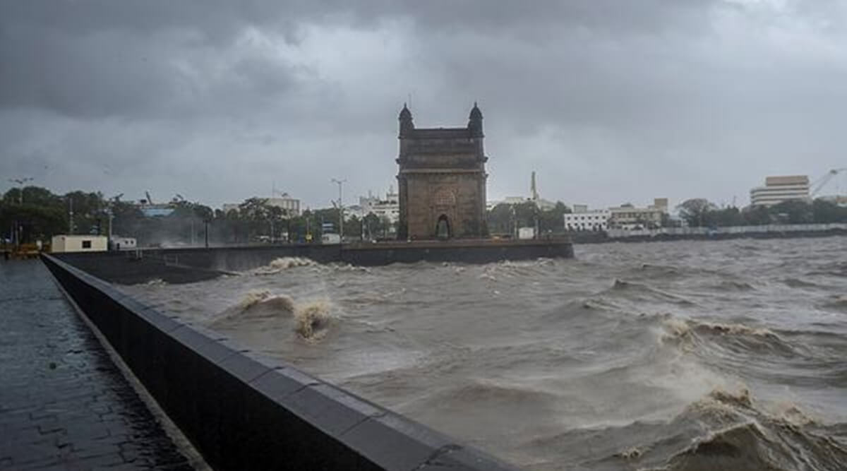 Wall, footpath near Gateway of India damaged due to Cyclone Tauktae