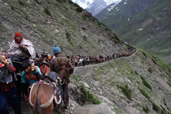 Amarnath Yatra resumes from Pahalgam route