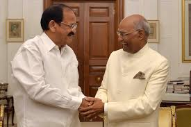 President Kovind congratulates M Venkaiah Naidu on completing 3 years as Vice President