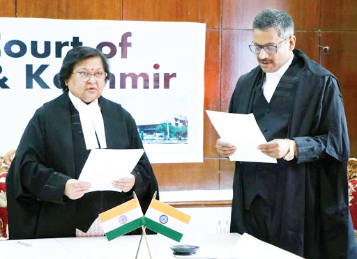 Justice Rajnesh Oswal sworn in as permanent Judge of High Court of J&K
