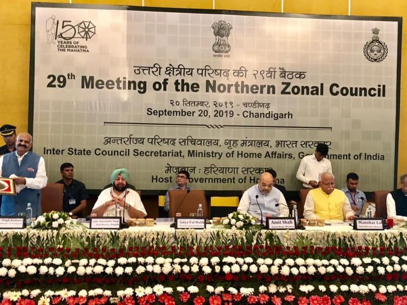 Amit Shah chairs 29th Northern Zonal Council at Chandigarh