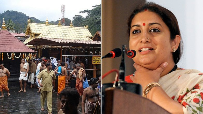 Everyone has the right to pray but not to desecrate, says Smriti Irani