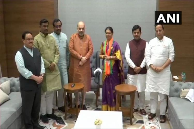 Telangana Congress leader D K Aruna joins BJP