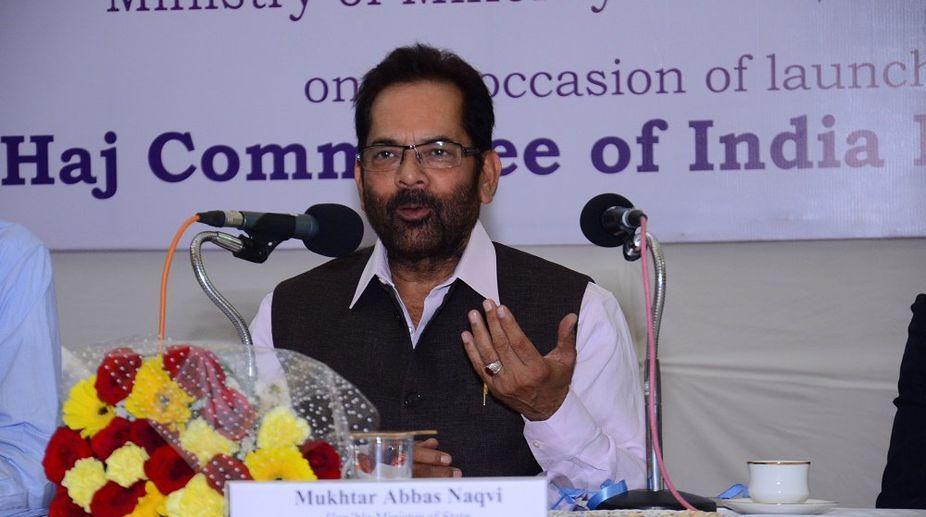 Mukhtar Abbas Naqvi announced Haj Policy of the Year 2018