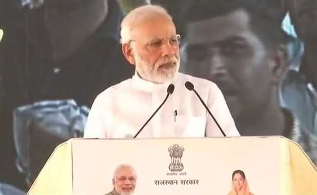 PM Narendra Modi derides Congress, calls it bail gaadi