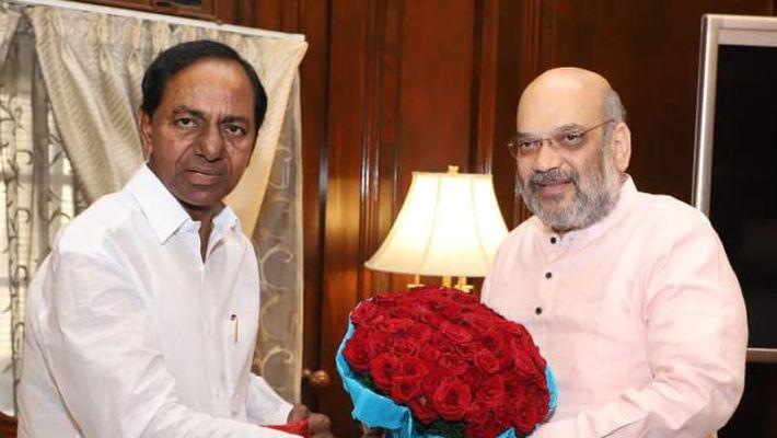 Telangana CM KCR meets Amit Shah