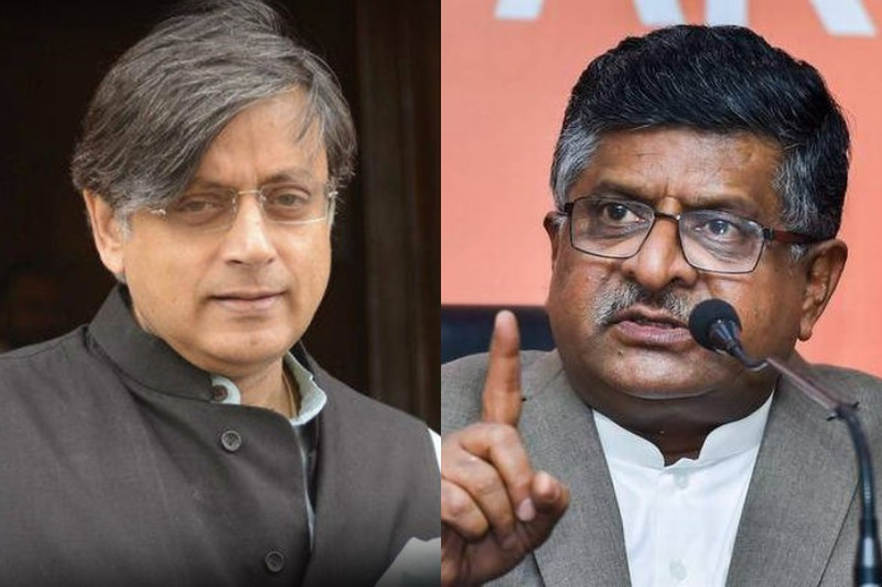 Shashi Tharoor files criminal complaint against Ravi Shankar Prasad for  defamatory remarks