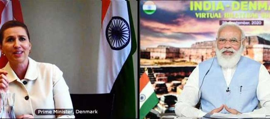 PM Modi says this virtual summit with Denmark will help in creating a common approach towards global challenges
