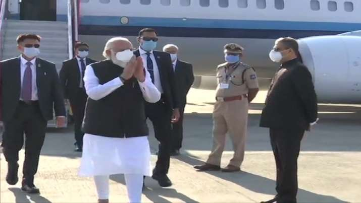 PM visits vaccine development facility at Zydus Biotech Park in Ahmedabad