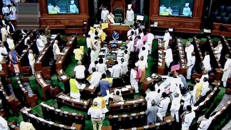 LS adjourns till noon amid protests over various issues