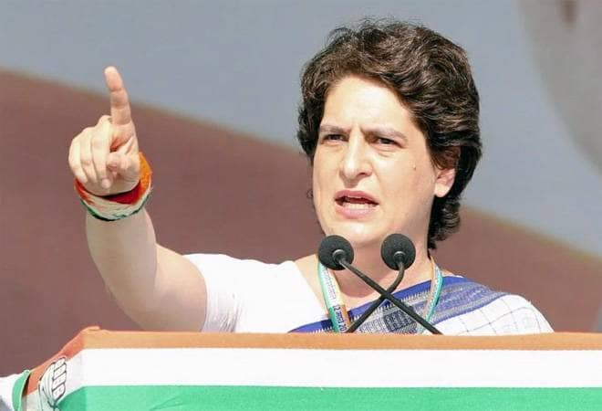 Priyanka Gandhi flays UP government over crimes against women