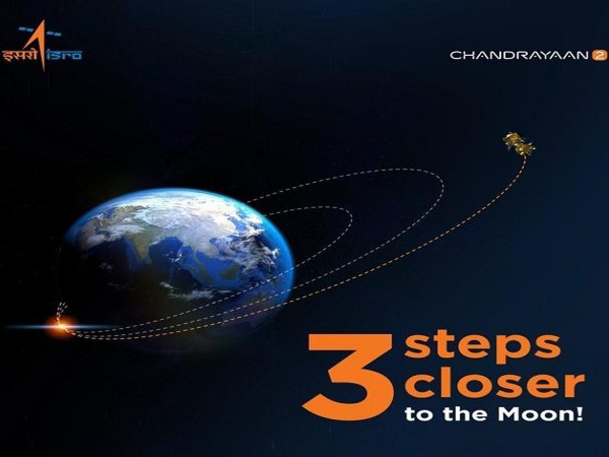 Chandrayaan-2 now 3 steps closer to moon: ISRO