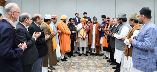 PM Modi hands over a Chadar to be offered at Ajmer Sharif