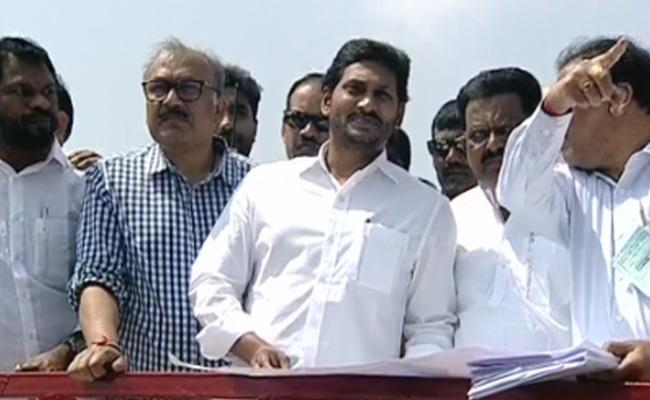 Andhra Pradesh CM YS Jagan Mohan Reddy inspects Polavaram project