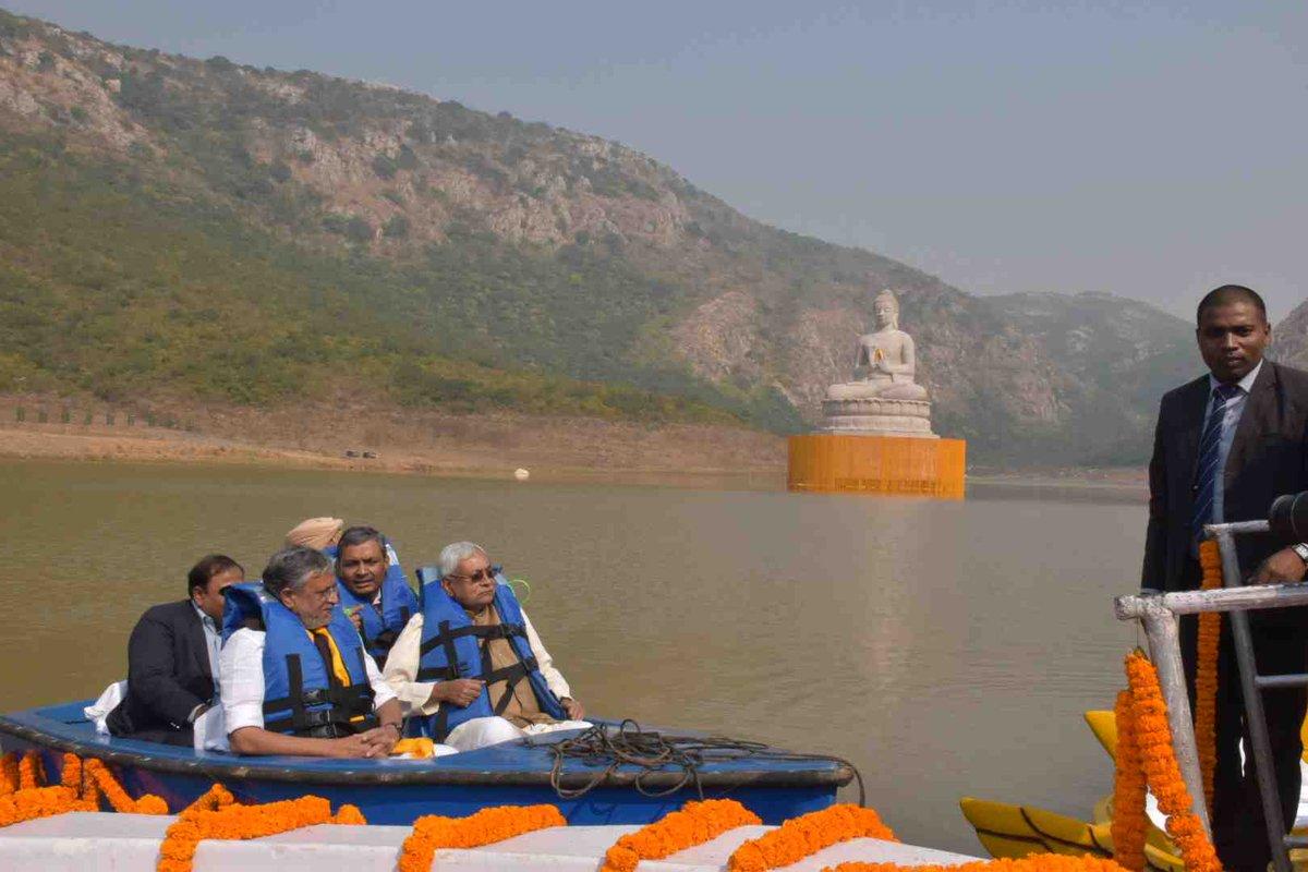 Bihar CM Nitish Kumar unveils 70 ft tall Lord Buddha