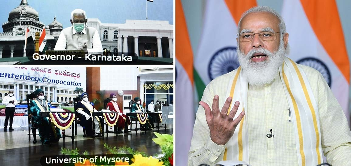 PM Modi stresses that reforms provided greater autonomy to the educational institutions to take own decisions