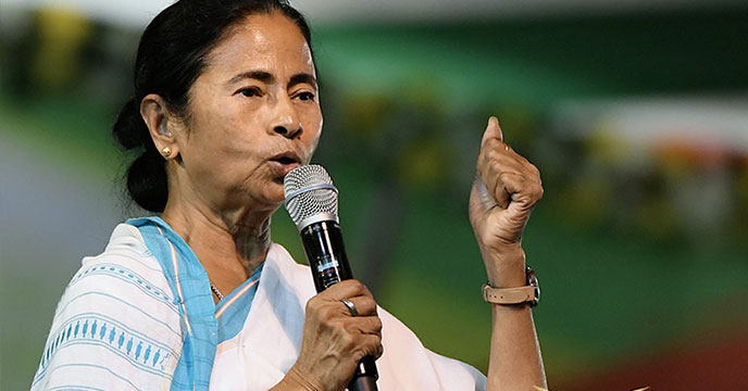 Mamata lashes out at BJP for questioning her religion