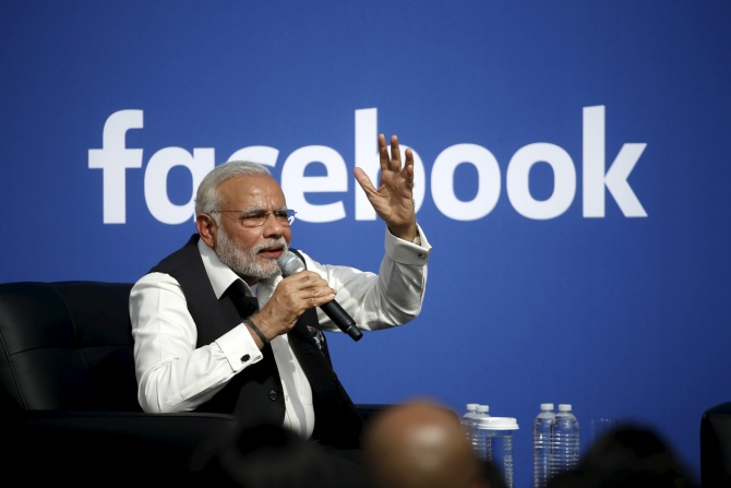 Modi the second most-liked world leader on Facebook