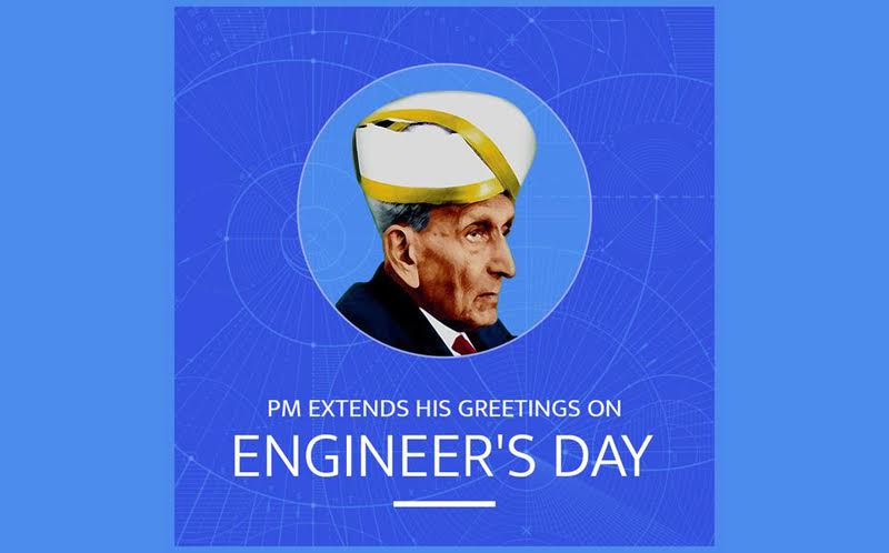 PM Modi greets engineers on Engineers Day today