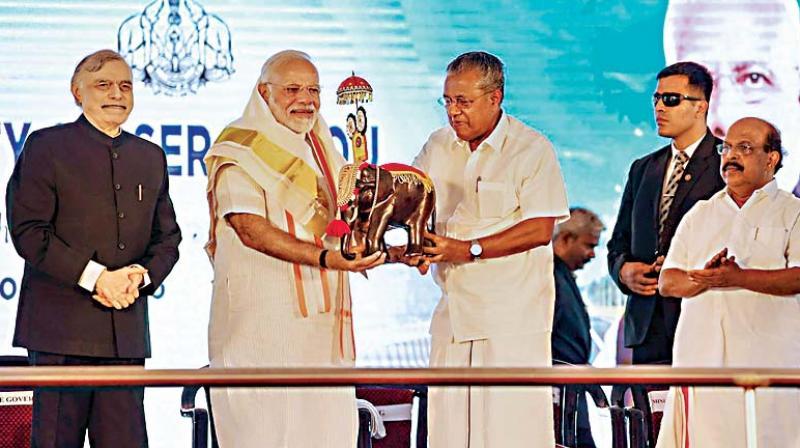 LDF, UDF hypocritical on Sabari: Modi