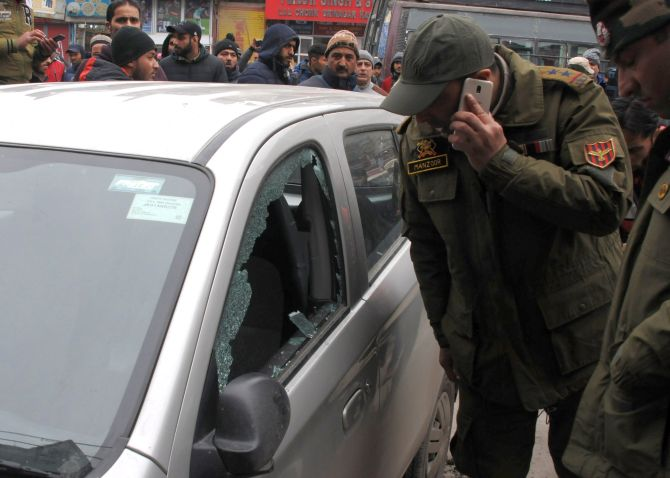 Terrorists carry out grenade attacks on security forces in Kashmir