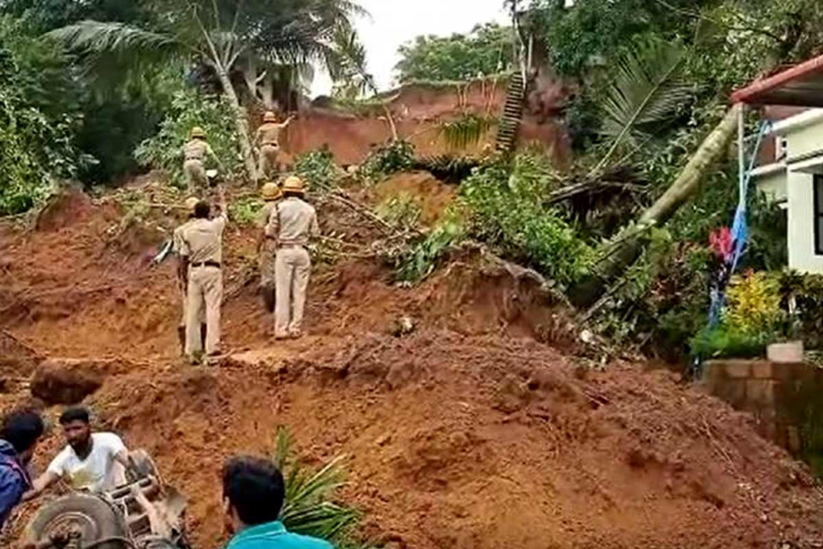 Two children dies, 19 houses damaged after landslide in Mangaluru