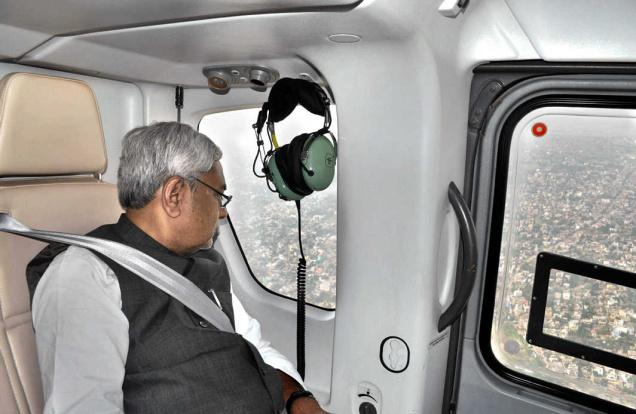Bihar CM Nitish Kumar to undertake aerial survey of flood affected areas