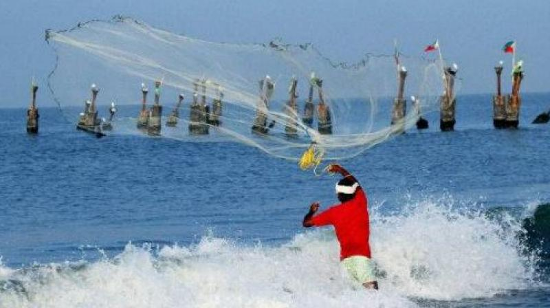 Four TN fishermen held by Sri Lankan Navy