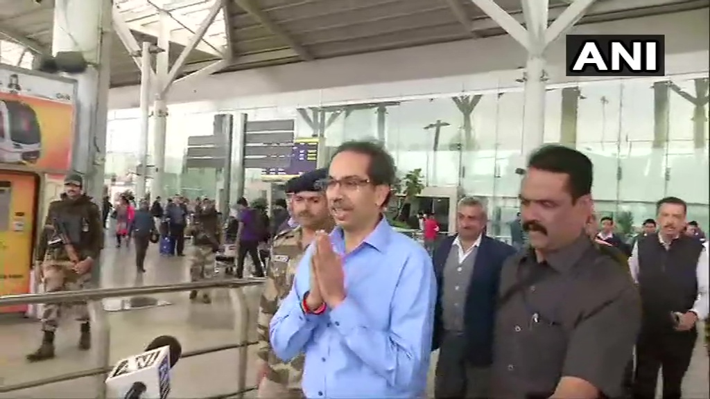 Uddhav Thackeray arrives Delhi to meet PM Modi, Sonia and LK Advani
