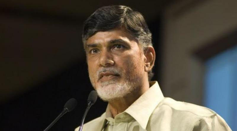 Chandrababu for protest against the Centre for failing to set up a steel plant in Kadapa.