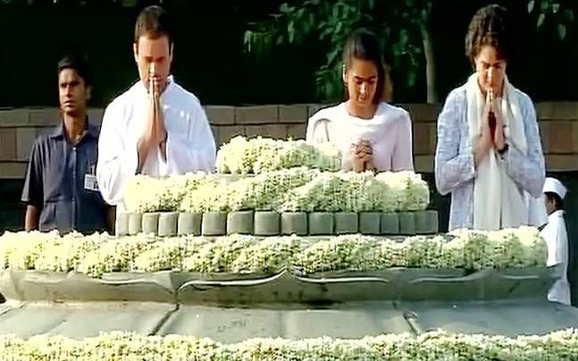Rajiv Gandhis 73rd birth anniversary: Sonia, Rahul pay respects to former PM