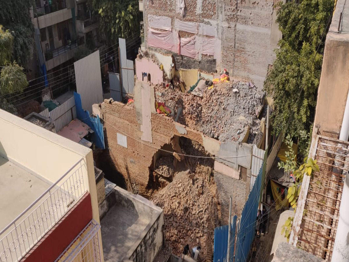 Under-construction building collapses in old Delhi